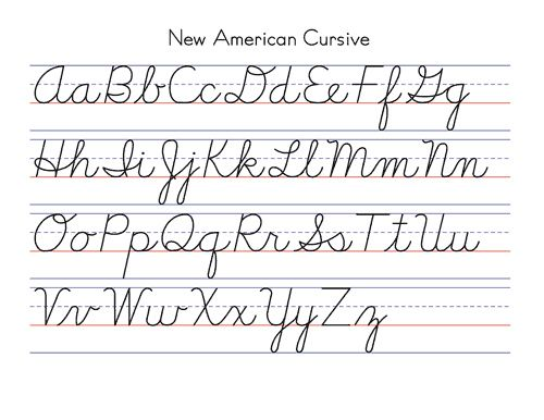 Cursive ABC List | Cursive writing. Going the way of the dodo ...