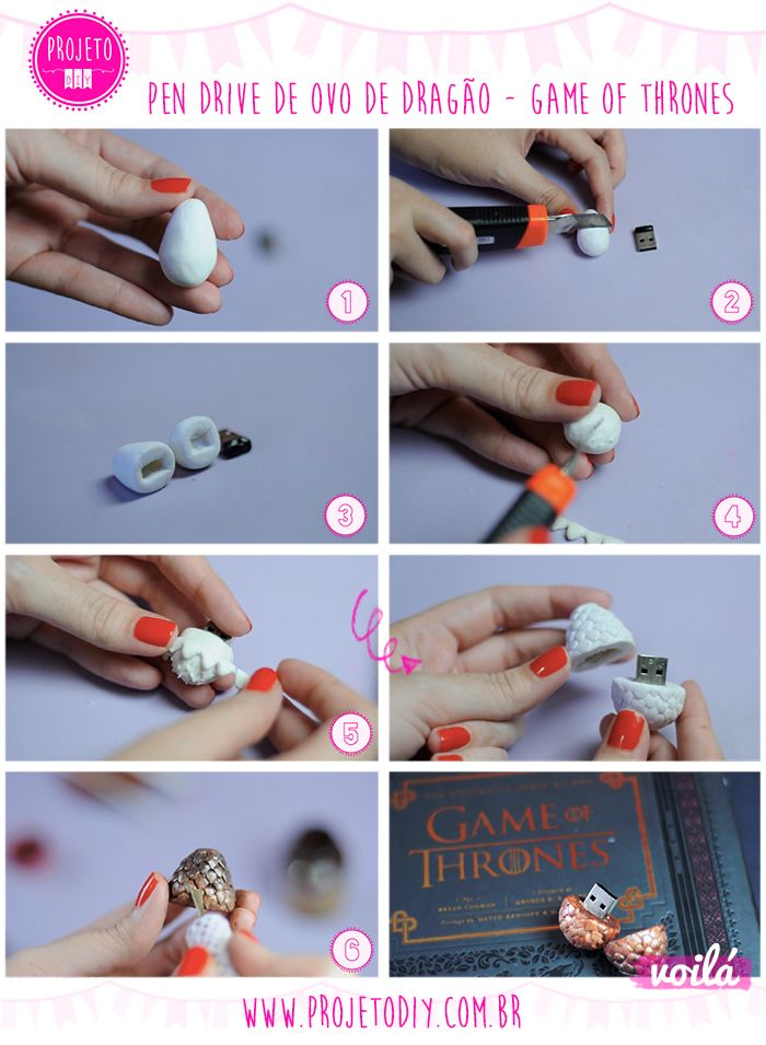DIY Dragon Egg Flash Drive | Pen Drive Ovo de Dragão - Game of Thrones