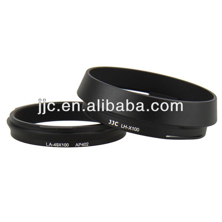 JJC LH-JX100 Black Lens Hood For Fujifilm LH-X100 with a 49mm Filter Adapter Ring AR-X100 for Fuji Finepix X100 X100S Camera #Fuji_X100, #black