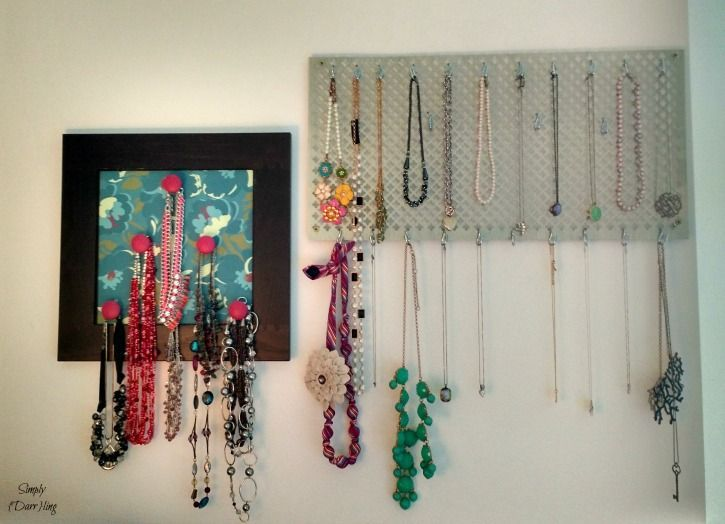 Easy Diy Necklace Holder Use Decorative Sheet Metal To Display