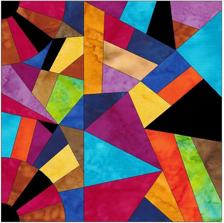Crazy Fan 8 Paper Foundation Piecing Block Pattern | Craftsy