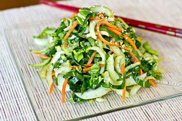 Love this! Crisp Baby Bok Choy Greens in Tangy-Sweet, Sesame-Soy Vinaigrette #recipe by @thecozyapron #vegan #8020eating