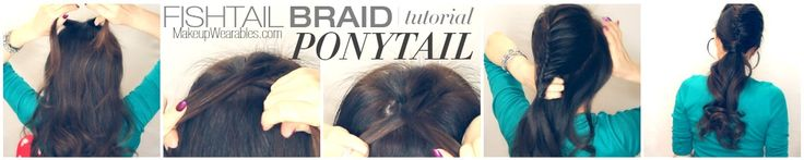 how to do a half French fishtail braid ponytail hairstyle tutorial   long hair