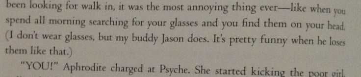 Jason actually loses his glasses on his head!! That's so great!!!