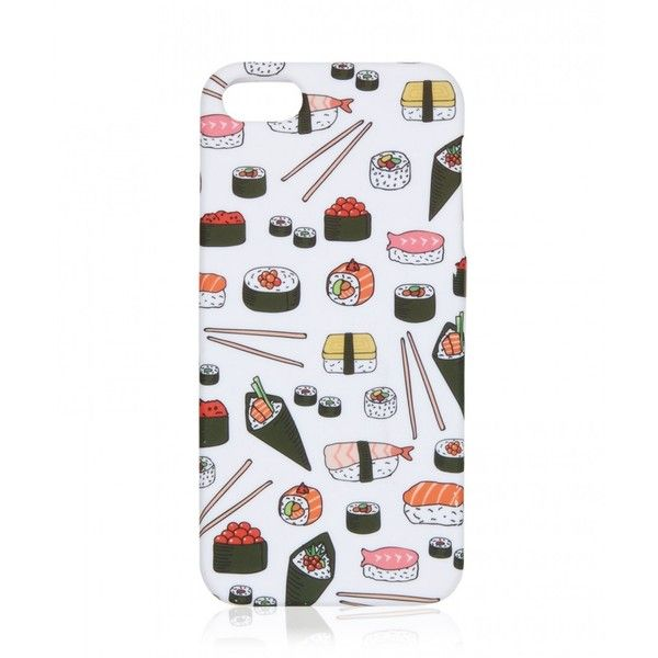 SUSHI SUSHI PHONE CASE 5 ($7.25) ❤ liked on Polyvore featuring accessories, tech accessories, phone case, sportsgirl and tech