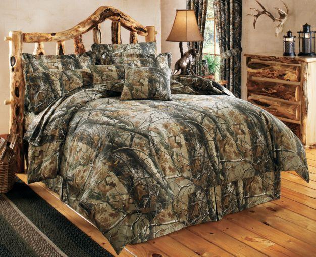 Cabela's Grand River Lodge™ Four-Piece Camo Bedding Set — Realtree AP™ : Cabela's