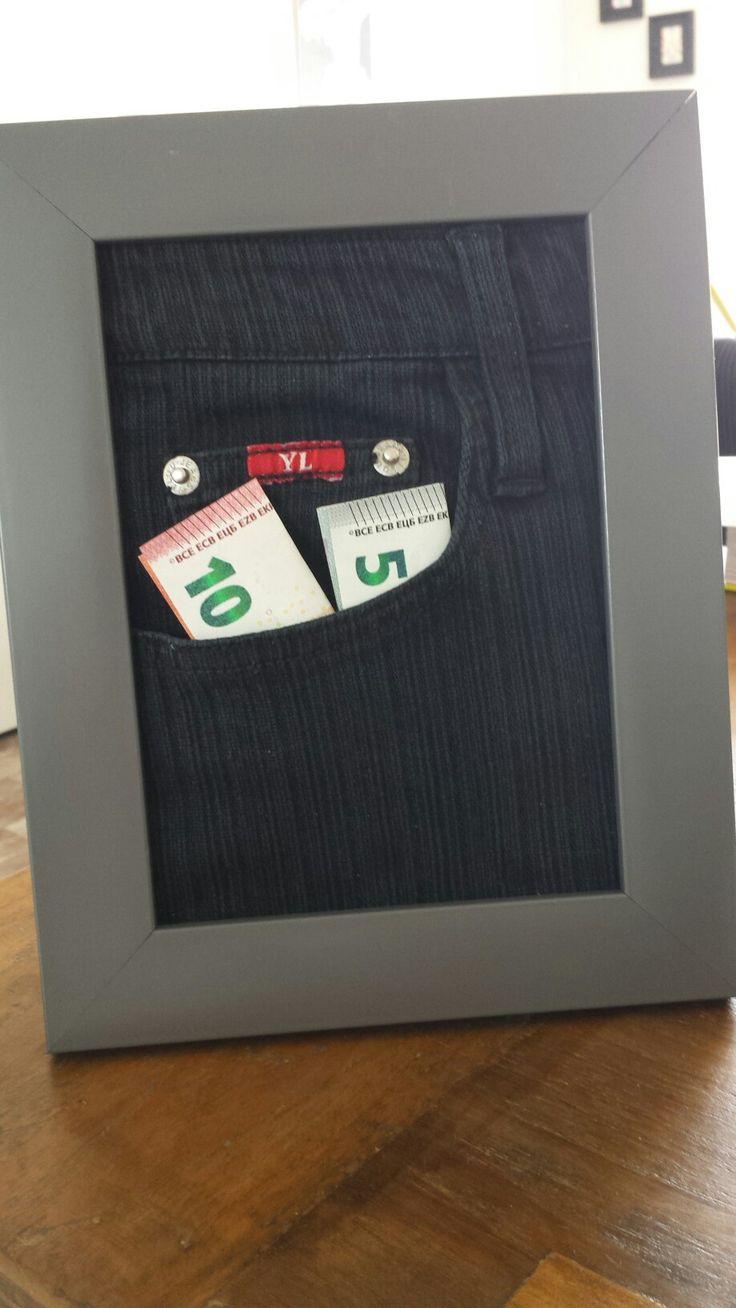 Homemade birthday gift. A nice way to give money. Zelfgemaakt verjaardags cadeau. Een leuke manier om geld te geven. #K