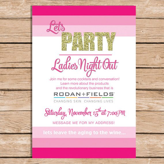 Rodan and Fields Launch Invitation by GingerSnapsOriginal on Etsy