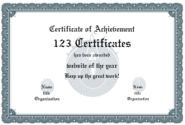 Award Certificate Maker - personalize and print certificates online for free: formal template 5 - 7 colors