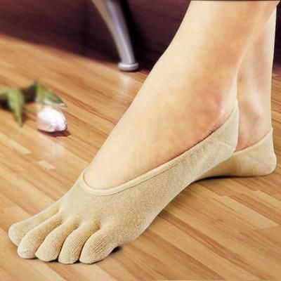5 PACK NO Show Running Five Fingers Crew Ankle Toe Socks for Women Ladies Men
