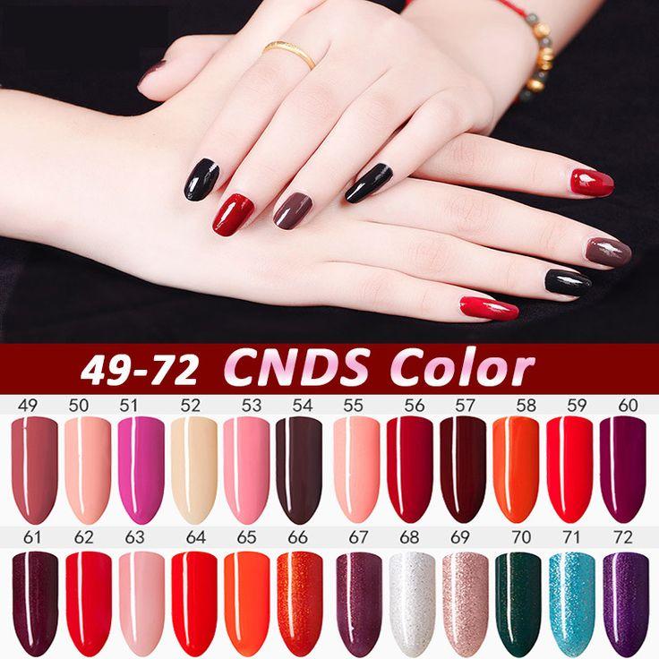 CNDSE 10ML Fashion LED Nail Polish Lacquer Gelpolish Gel Nail Purple Colors UV Gel Nail Polish Soak Off Vernish Semi Permanent