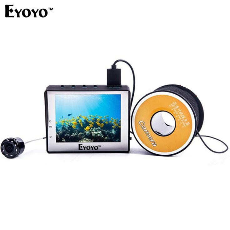 "WF02 Portable Fish Finder 1000TVL Underwater Video Fishing Camera 3.5"" LCD Monitor 30M Cable Ice Ocean Fishing"