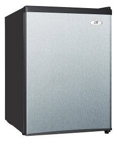 best mini fridge reviews no. 4. SPT RF-244SS Compact Refrigerator. There are six different sizes of this SPT model, ranging from 1.6 cubic feet ($120) to 4.4 cubic feet ($210), and the prices don't necessarily correlate to their sizes – the 3.5 cubic foot unit costs $55 more than the 4.4 cu. ft. model, for some reason.