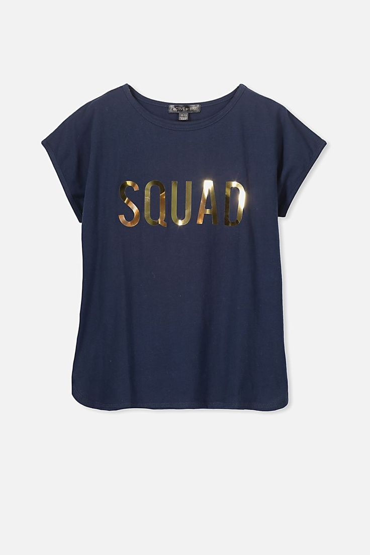 Free Active Curved Front Tee, OBRIEN BLUE/SQUAD
