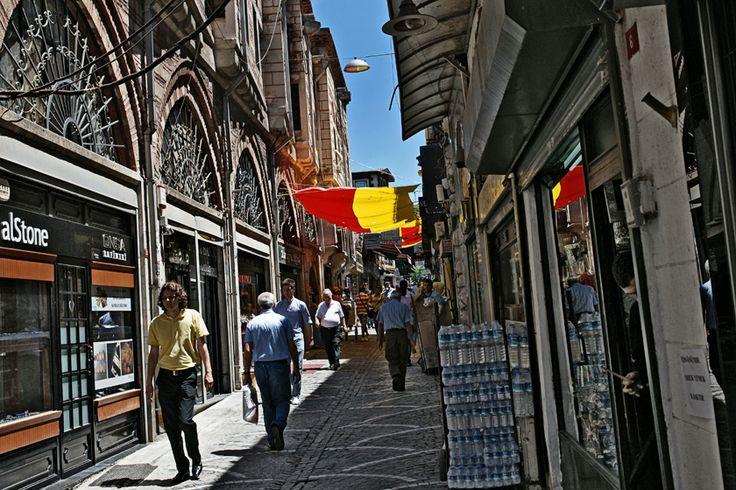 Street just outside of Grand Bazaar Istanbul, Turkey 2012