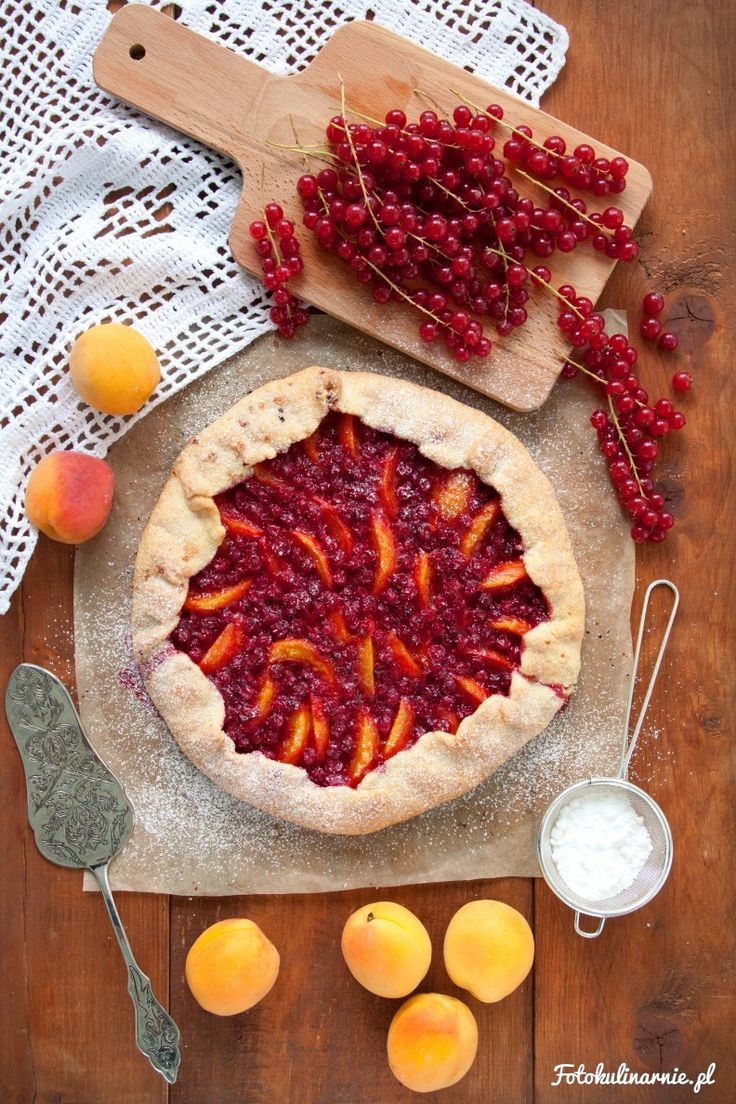 Apricot and Red Currant Galette.