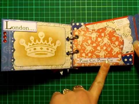 London Theme Toilet Paper TP Mini Album Using Docrafts Digital Designer ...