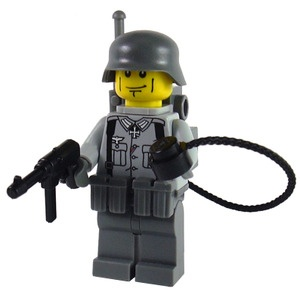 Custom Lego German Military Soldier Minifigure Model German Iron Cross Radio Operator