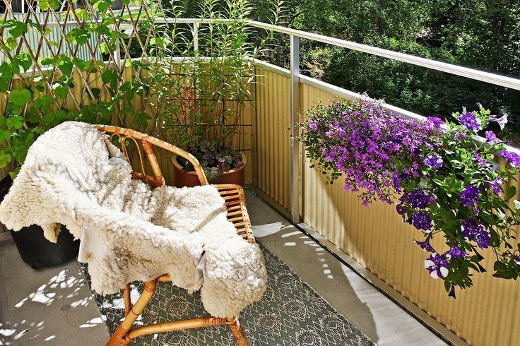 Balkong utanför sovrum 1. Simrishamnsvägen 7 - Bjurfors