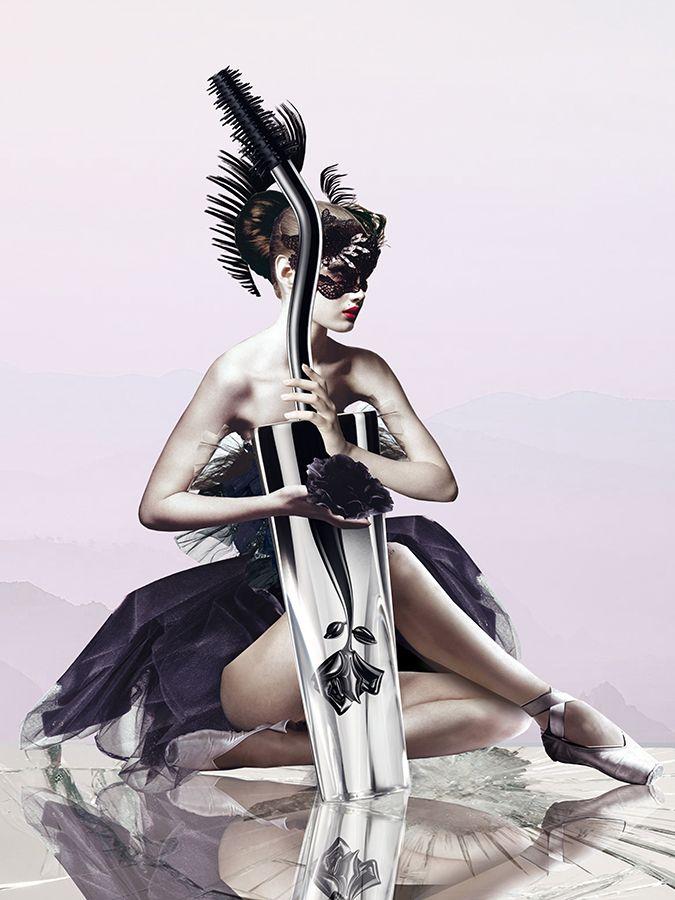 #marenesdar #collage #illustration #girl #lancome #mascara #beauty #cosmo #cosmopolitan