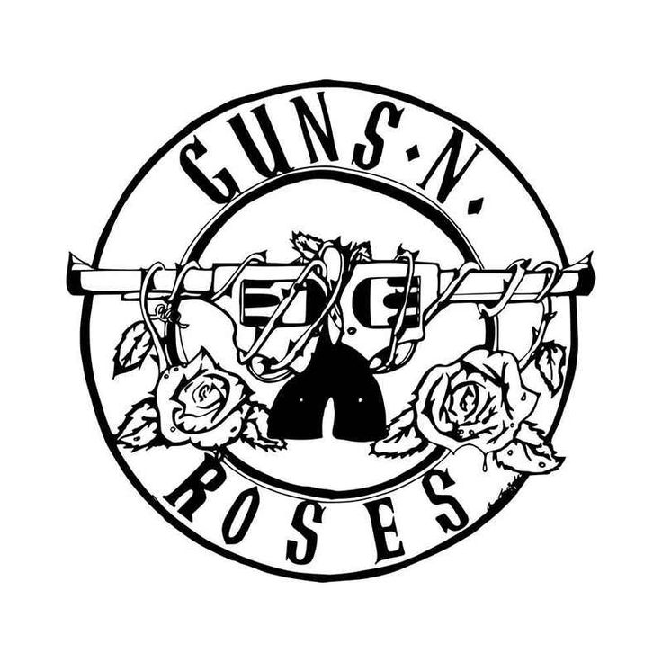 Guns N Roses Rock Band Logo Vinyl Decal Sticker. Many Size