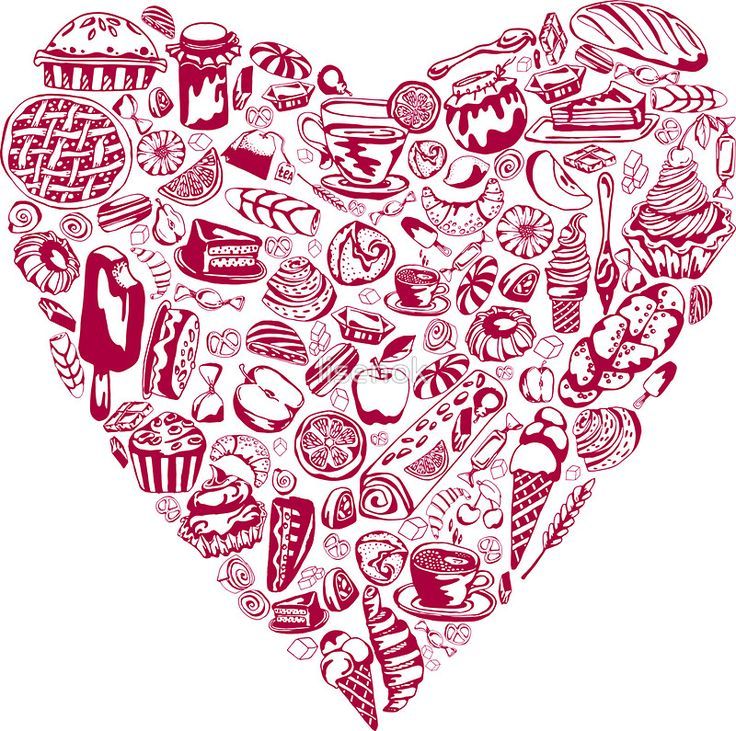 yum yum_ heart with pastry_pink