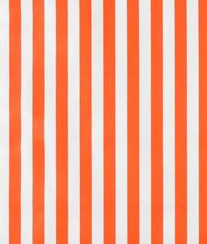 Orange Stripes Oilcloth Fabric for cushions/curtains
