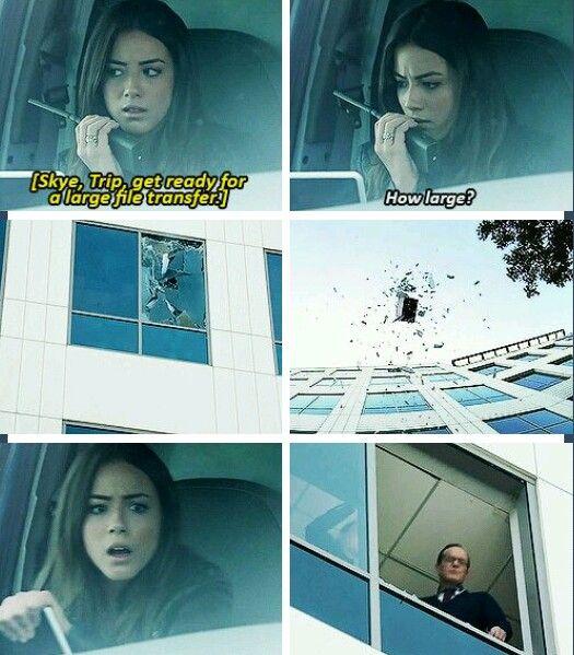 Agents of S.H.I.E.L.D // *Tripp, but oh my gosh I laughed so hard at this part!