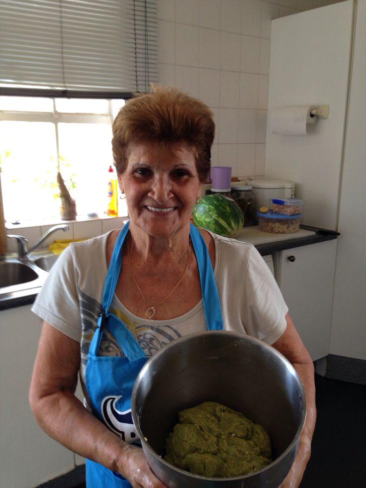 Savta making cookies