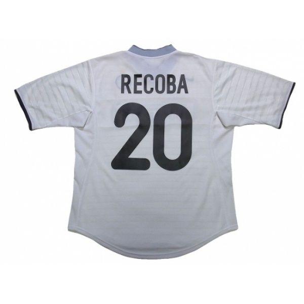 Inter Milan 2000 2001 Away Shirt 20 Recoba In 2020 Retro Football Shirts Soccer Shirts Vintage Football Shirts