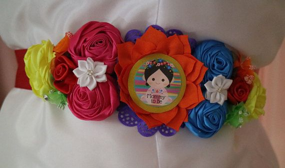 Fiesta Baby Girl Themed Mommy To Be Baby Shower Corsage Maternity