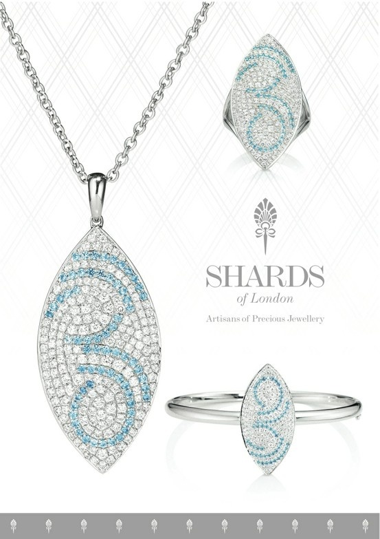 The Sky Drop Collection from Shards of London ll Our Sky Drop Collection is a simple yet enchanting shimmering semi-precious aquamarine collection http://shardsoflondon.com/  #Jewellery #Jewelry