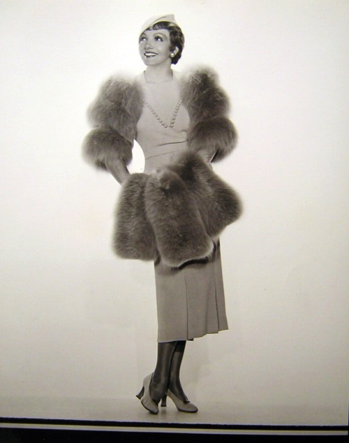 Claudette Colbert, 1930s. Cute! She looks like a poodle!