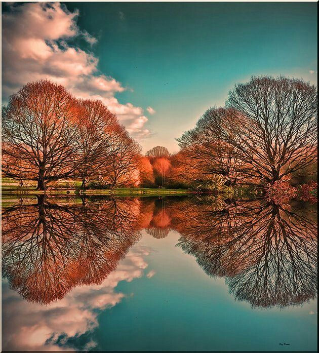 Reflection, looks like fireworks!