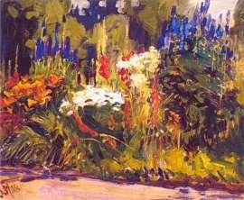 "J. E. H. MacDonald - ""Flower Border, 1918""; Canadian Group of Seven"