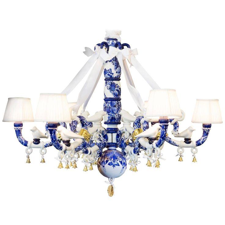 Delft Blue Chandelier By Marcel Wanders