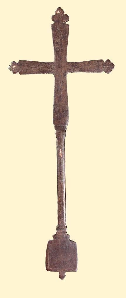 Процессионный крест 15 в. Эфиопия 30.1 x 12 см