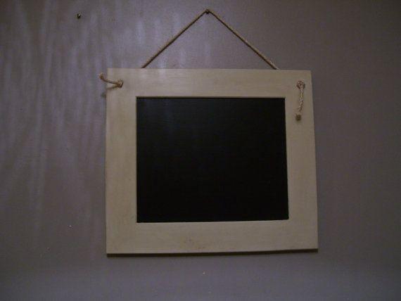 Framed chalkboard/ blackboard. Painted in by LittleTreatsGiftShop