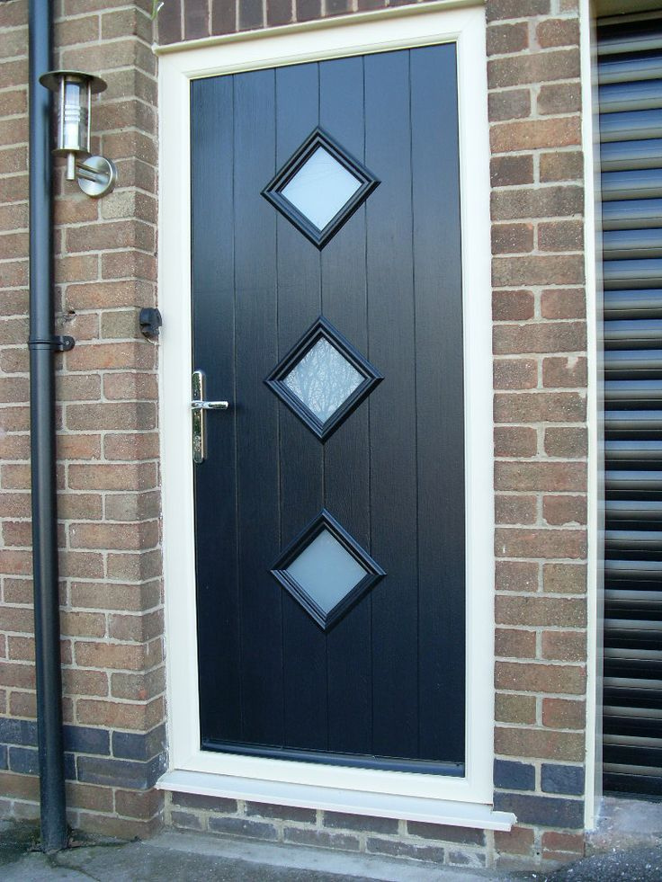 Composite door in contemporary design upvc doors for Brown upvc patio doors