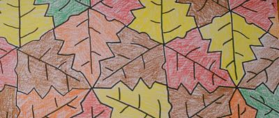 Fall Leaf Tessellation idea. Maths and Art