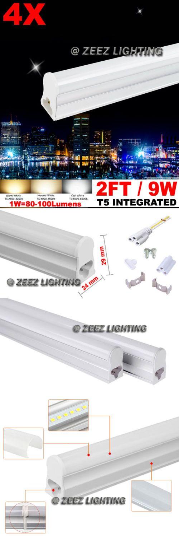 Light Bulbs 20706: 4X T5-Integrated 2Ft 9W Daylight Cool White Led Tube Light Bulb Fluorescent Lamp -> BUY IT NOW ONLY: $33.95 on eBay!