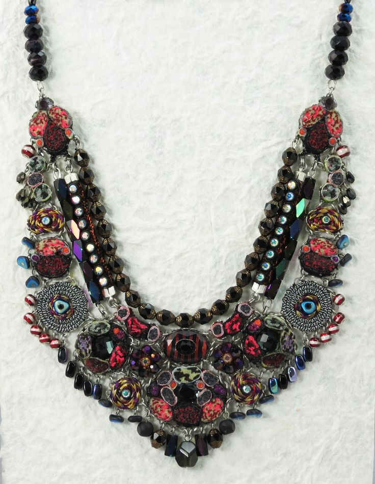 #CAGiftShow exhibitor #AyalaBar loves combining beads and soft tassels with jagged surfaces, matte textures with shiny metals in her jewelry pieces.