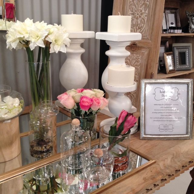 Gifts and decor accessories galore #GardenRouteMall #gifts #decor #flowers #candlesticks www.isabelina.co.za