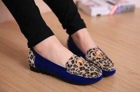 SH714 İlkbahar / Sonbahar 2014 Moda Lepord Vintage Kadınlar Düz ayakkabılar ucuz! Kore Marka Casual Kadın Sneakers Ücretsiz nakliye $20.48