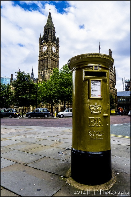Manchester gold post boxes to celebrate cycling Olympic gold medallist Philip Hindes