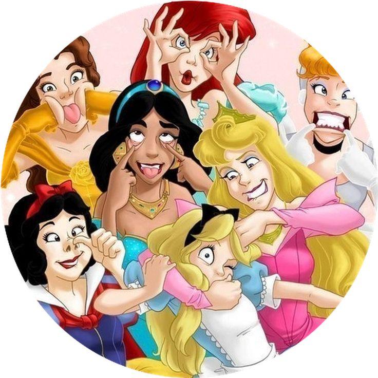 Картинки принцесс смешные, открытка новому году