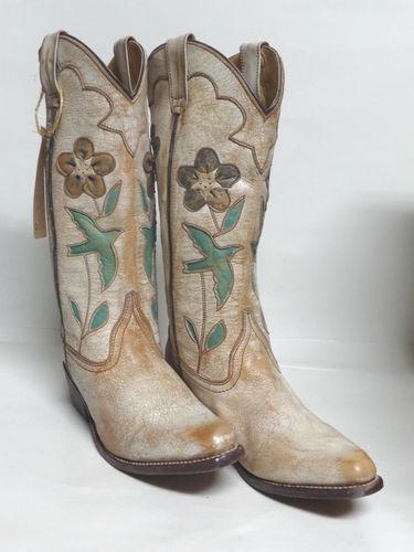 "Bed Stu Ladies Western Boots ""Valencia"" Beige Nectar Turquoise Silver Lux | eBay"