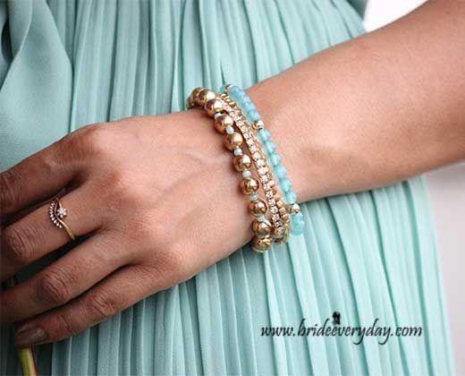 BLOGGED: Shailja Vashisht, blogger at Be A Bride Everyday adorned our Blues N Bling Bracelet. #blogger #braceletset  Shop this bracelet here >> http://buff.ly/1zfRDzO
