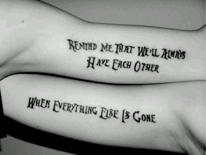 """Couple tattoo. Would love to do this, but too chicken. Love this song! """"Dig"""" by Incubus <3"""