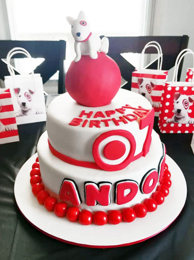 Incredible The Ultimate Target Themed Birthday Party Target Birthday Cakes Funny Birthday Cards Online Alyptdamsfinfo